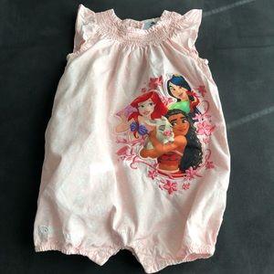 DISNEY BABY PINK PRINCES EMBROYDERY ROMPER